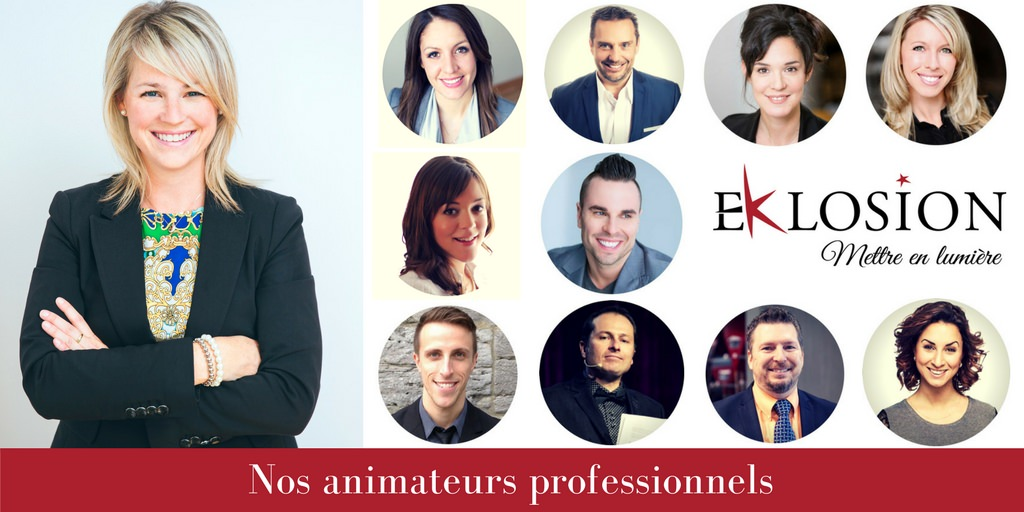 Animateurs professionnels, équipe Eklosion